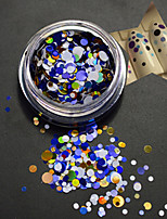 1Bottle Fashion Nail Art DIY Beauty Mixed Colorful Glitter Paillette Round Slice P12