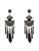 Fashion Women   Black  Pen Point Shaped   Alloy  Drop Earrings