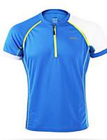 Муж. Бег Лето Спортивная одежда Спорт в свободное время Полиэстер Тонкие Оранжевый Темно-синий Зеленый + серый