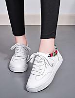 Белый-Для женщин-Повседневный-РезинаLight Up обувь-Кеды
