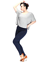 Latin Dance Tops Women's Performance Modal 1 Piece Short Sleeve Top