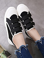 Women's Boots Summer T-Strap Rubber Casual Black White