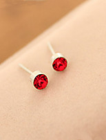 Stud Earrings Korean Rhinestone Gem Small Sweet Crystal Earrings Female Daily Movie Jewelry