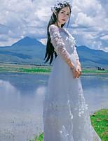 Einteilig/Kleid Klassische/Traditionelle Lolita Vintage Inspirationen Elegant Prinzessin Cosplay Lolita Kleider Rosa Weiß BlauSpitze