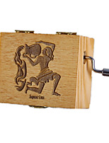 Music Box Square Holiday Supplies Wood Unisex