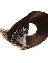 16 дюймов выдвижения человеческих волос микро- петли прямые человеческие волосы человеческих волос cabelo humano 0.4g / s микро-