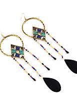 Women's Drop Earrings Jewelry Tassels Fashion Gem Flannelette Alloy Jewelry Jewelry For Party Gift Casual