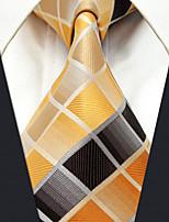YXL32 Men's Necktie Multicolor Checked 100% Silk Business Fashion Wedding For Men