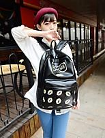 Women Backpack PU All Seasons Sports Outdoor Zipper Black