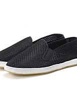 Черный-Для мужчин-Повседневный-ТюльУдобная обувь-Мокасины и Свитер
