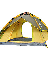 3-4 persons Tent Double Automatic Tent One Room Camping Tent 1500-2000 mm Fiberglass OxfordMoistureproof/Moisture Permeability Waterproof