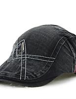 Men's Cotton Beret Hat Peaked Cap Vintage Casual Solid Sports Summer All Seasons Black/Blue/Grey/Brown/Army Green/Beige