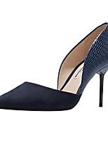 Damen High Heels Komfort D'Orsay und Zweiteiler Club-Schuhe Wildleder Mikrofaser Frühling Sommer Hochzeit Büro Kleid Kombination