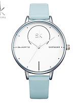 SK Women's Women Bracelet Watch Japanese Quartz Water Resistant / Water Proof Shock Resistant PU Band Charm Luxury CasualWhite Blue Grey