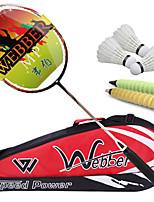 Badmintonschläger Verschleißfest Dauerhaft Kohlefaser 1 Stücke für