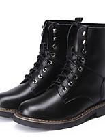 Черный-Для мужчин-Для прогулок Для офиса Повседневный Для вечеринки / ужина-КожаУдобная обувь-Ботинки