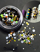 1Bottle Fashion Round Slice Nail Art Decoration Mixed Colorful Laser Glitter DIY Beauty Paillette Slice P6