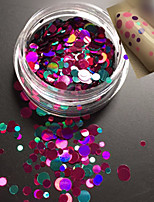 1Bottle Fashion Sweet Style Colorful Nail Art Glitter Paillette Round Slice Sweet DIY Beauty Decoration P11