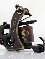 Máquina de tatuaje bobina máquina de tatuaje professiona cobre pulido a mano