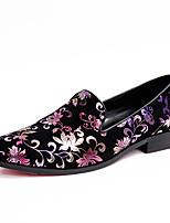 Лиловый-Для мужчин-Повседневный Для вечеринки / ужина-Замша-На низком каблуке-Оригинальная обувь клуб Обувь-Мокасины и Свитер