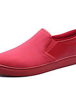 Men's Loafers & Slip-Ons Spring Summer Comfort Fabric Casual Red Black White