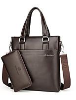 Men PU Formal Casual Event/Party Office & Career Bag Sets Brown Black
