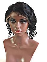 9 א כיתת חזית תחרת שיער אדם פאות גל רופף עם פאות קצרות glueless שיער בתולה ברזילאיות צפיפות שיער תינוק 130% עבור אישה שחורה