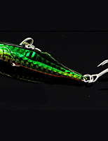 1 pcs Metal Bait Fishing Lures Pike White Red glass green g/Ounce,80 mm/3-1/4
