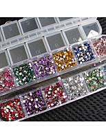 1x étui en érable 3000pcs élastique pour ongles en acrylique uv gel décor