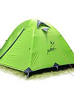 2 Pessoas Tenda Único Tenda Dobrada Um Quarto Barraca de acampamento >3000mm Oxford Fibra de Vidro Prova de Água Portátil-Equitação