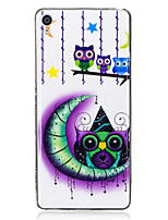 For Sony Xperia XA Case Cover Moon Owl Pattern Luminous TPU Material IMD Process Soft Case Phone Case