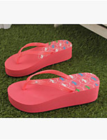 Women's Slippers & Flip-Flops Summer Slingback Rubber Casual Flat Heel Green Red Black