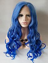 Perruques de matériel de caractéristiques pour les femmes style montré des perruques de costumes de couleur perruques cosplay