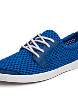Men's Sneakers Summer Comfort Light Soles Tulle Outdoor Casual Athletic Lace-up Beige Dark Blue Royal Blue