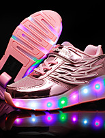 Kid Boy Girl's Roller Skate Athletic Shoes Light Up Shoes Luminous Shoe Tulle Leatherette Outdoor Athletic Casual Low HeelLED Hook &