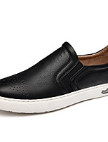Men's Loafers & Slip-Ons Spring Fall Comfort PU Casual Brown Gray Black