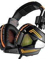 PC와 스테레오 게임용 헤드셋, 마이크 오버 이어 장착 저음 용 헤드폰 소음 차단 및 호흡으로 편안한 헤드 밴드 PC Mac 용 LED 조명