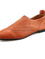 Белый Черный Оранжевый-Для мужчин-Для прогулок Для офиса Повседневный-Полиуретан-На плоской подошве-Удобная обувь-Мокасины и Свитер