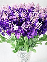 10 Branch Polyester Lavender Artificial Flowers