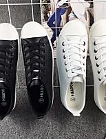 Черный Темно-синий Черно-белый-Для мужчин-Повседневный-ПолиуретанУдобная обувь-Кеды