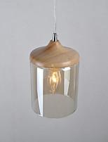 Luzes Pingente ,  Contemprâneo Madeira Característica for LED Madeira/BambuSala de Estar Quarto Sala de Jantar Cozinha Quarto de
