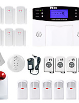 Danmini  LCD Wirless GSM/PSTN Home House Office Security Burglar Intruder Alarm System Smoke Induction