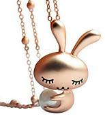 Жен. Ожерелья с подвесками В форме животных Позолота Животный дизайн обожаемый Золотой Бижутерия ДляДля вечеринок День рождения