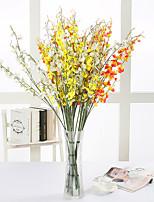 10 Ramo Seda Orquideas Flor de Mesa Flores artificiais