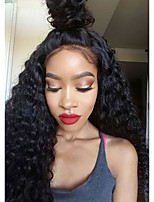 Kinky Curly 360 Lace Wig 150% Density Human Virgin Hair Black Color Wig with Baby Hair For Black Women