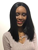 MAYSU Natural Prevailing  Black Medium Long Straight Hair  Synthetic Wig  Beautiful  Woman Hair