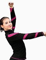 Ice Skating Dress Women's Kid's Long Sleeve Skating Tracksuit High Elasticity Figure Skating Dress Thermal / Warm Sweat-wickingVelvet