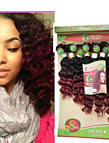 Омбре Бразильские волосы Крупные кудри 6 месяца 1 шт. волосы ткет