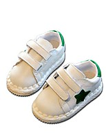Kids' Baby Flats First Walkers Leather Spring Fall Casual Outdoor Walking First Walkers Magic Tape White Black Flat