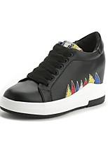Women's Sneakers Spring Summer Creepers PU Outdoor Office & Career Casual Wedge Heel Applique Walking